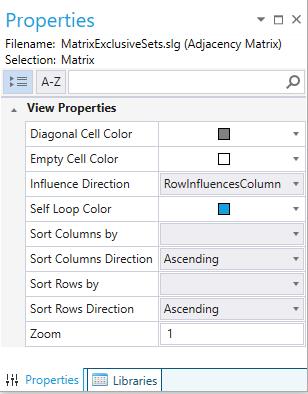 View properties in the properties pad