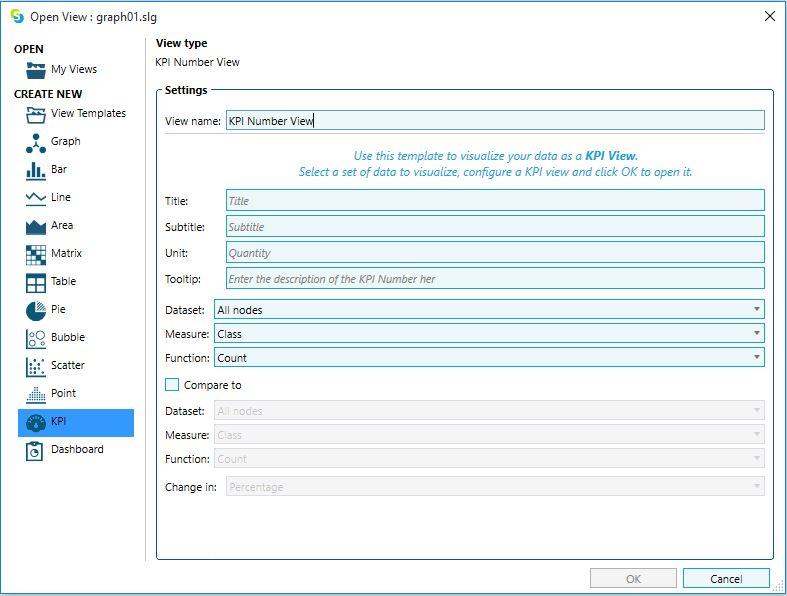 KPI View dialog window