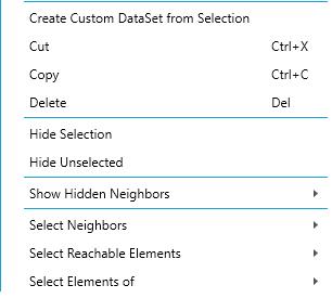 Right click menu graph element