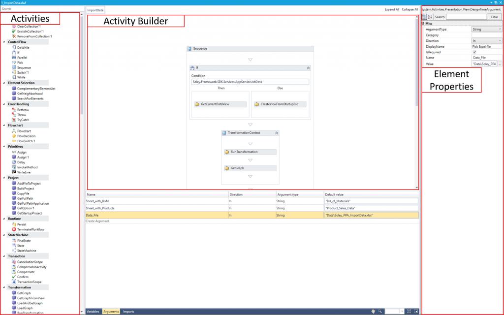 Workflow file User Interface