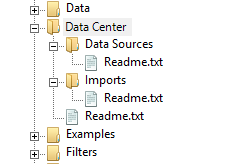 Setting up the folder structure for using the Data Center in Soley Studio.