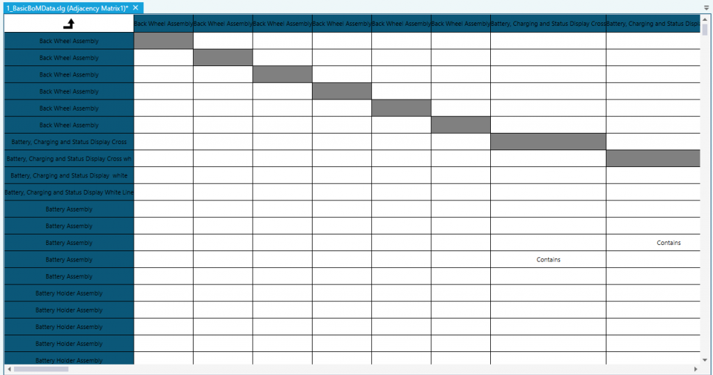 The Matrix view in Soley Studio can also be exported to an Excel Sheet.